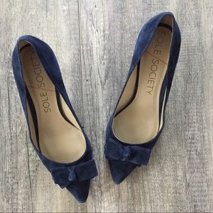Sole Society Navy Pumps